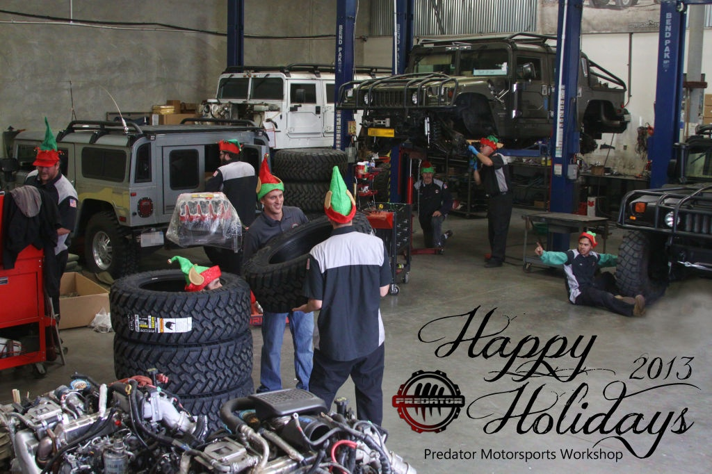 Happy Holidays from the Predator Workshop
